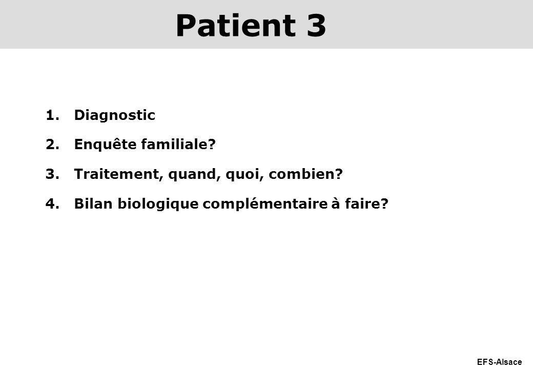 Patient 3 Diagnostic Enquête familiale