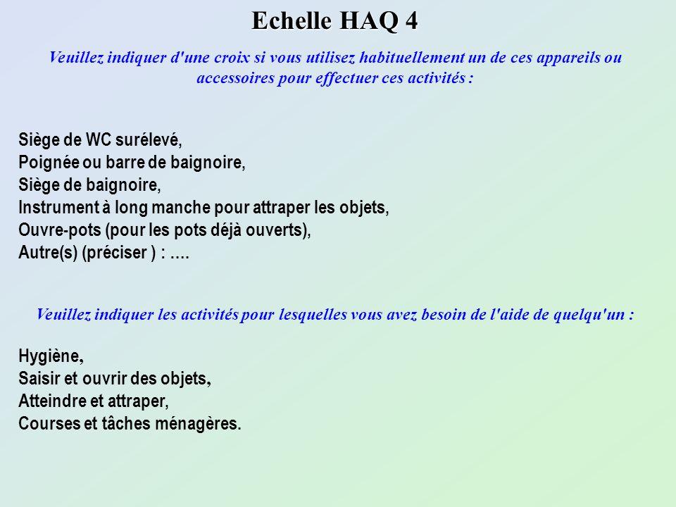Echelle HAQ 4 Siège de WC surélevé, Poignée ou barre de baignoire,