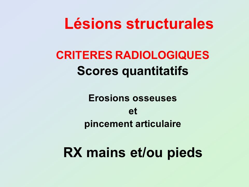 CRITERES RADIOLOGIQUES pincement articulaire