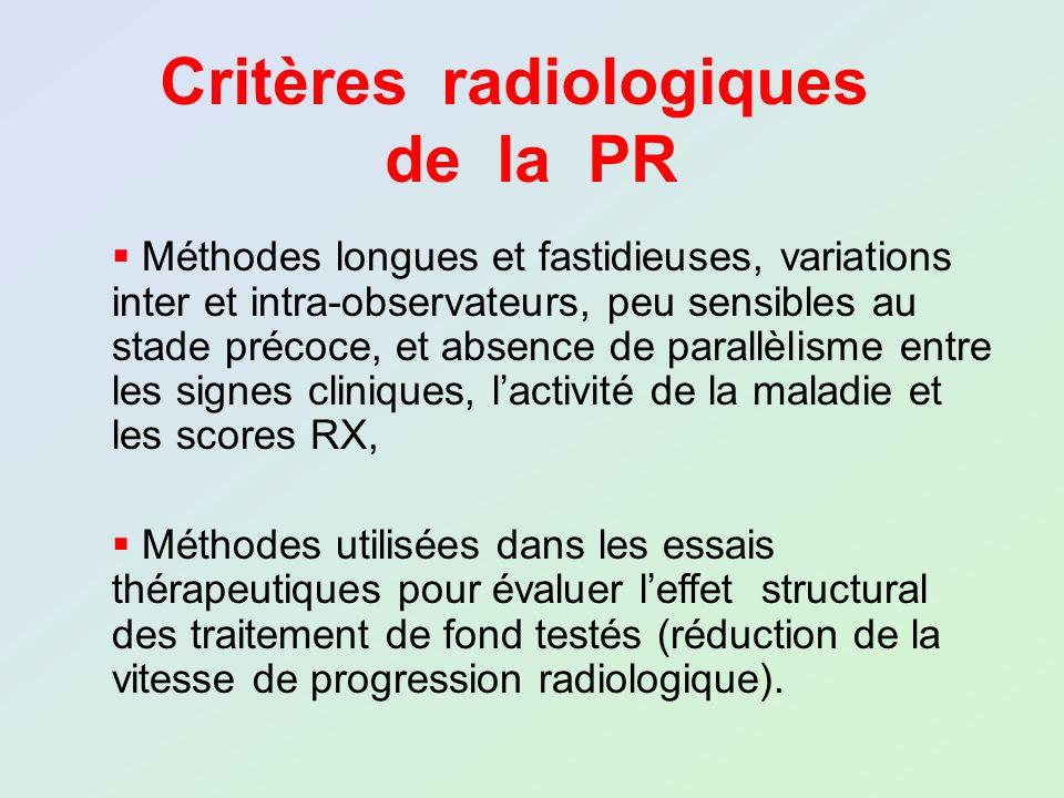 Critères radiologiques