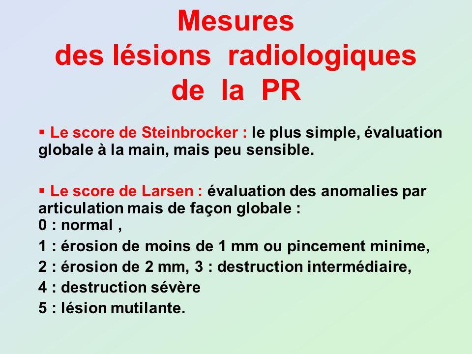 des lésions radiologiques