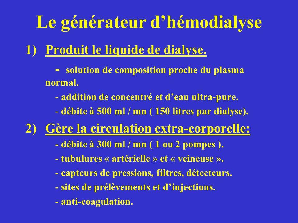 Le générateur d'hémodialyse