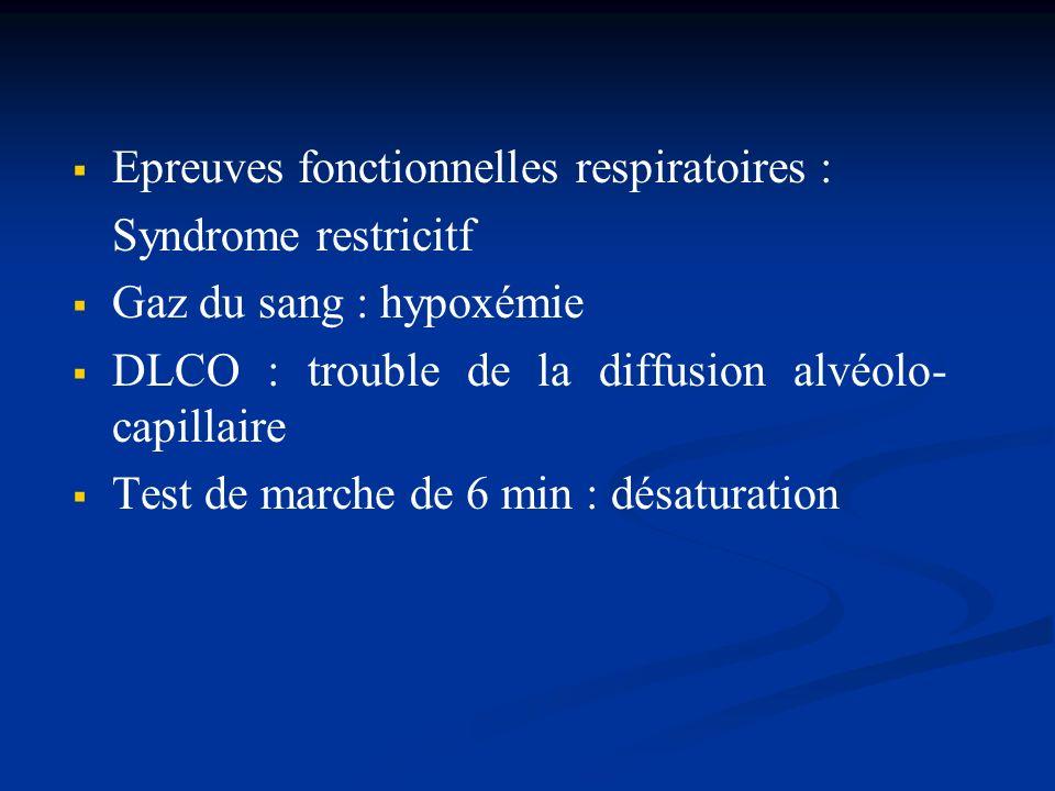 Epreuves fonctionnelles respiratoires :
