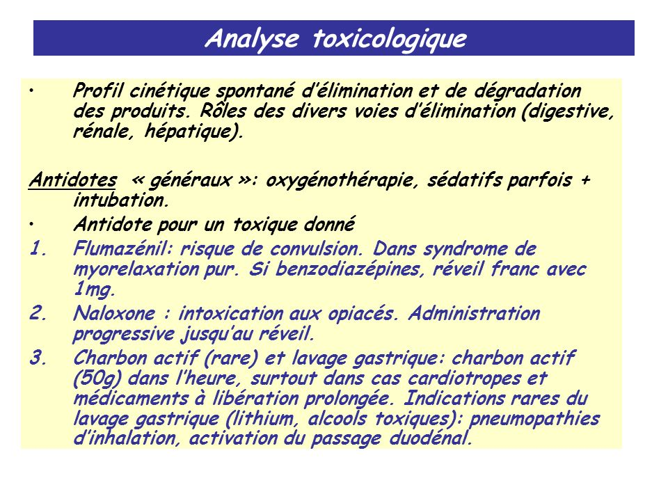 Analyse toxicologique