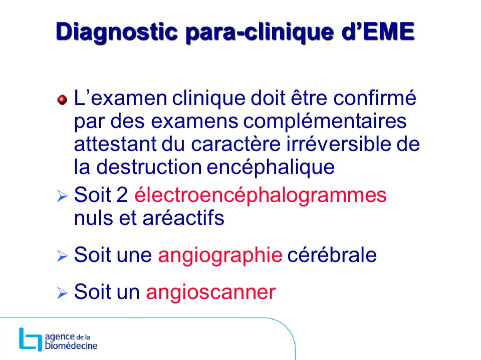 Diagnostic para-clinique d'EME