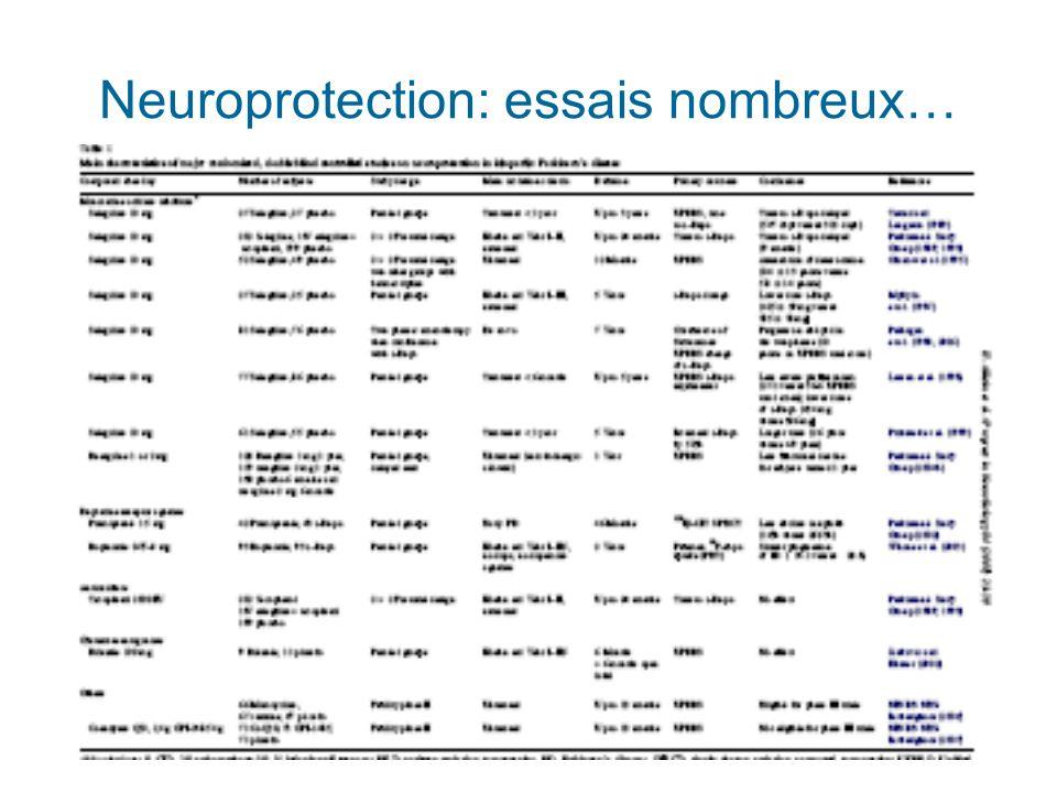 Neuroprotection: essais nombreux…