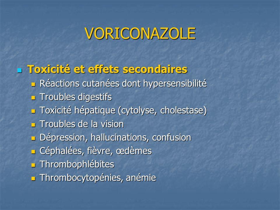 VORICONAZOLE Toxicité et effets secondaires