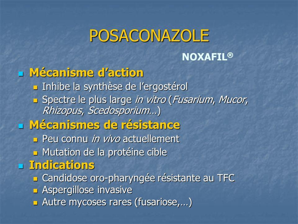 POSACONAZOLE Mécanisme d'action Mécanismes de résistance Indications