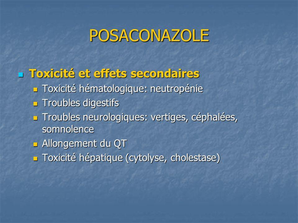 POSACONAZOLE Toxicité et effets secondaires
