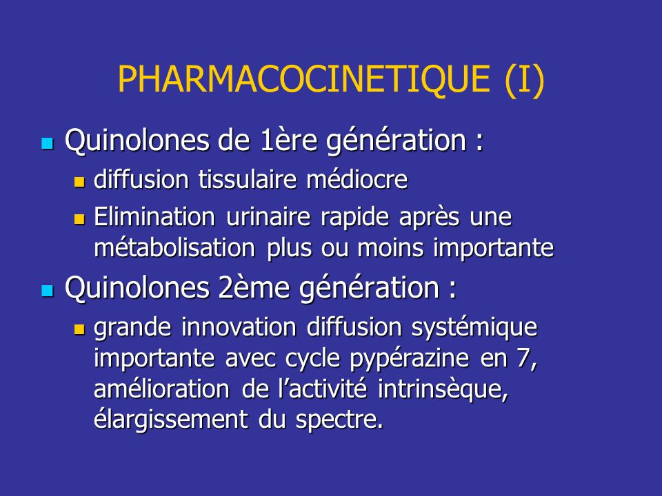 PHARMACOCINETIQUE (I)