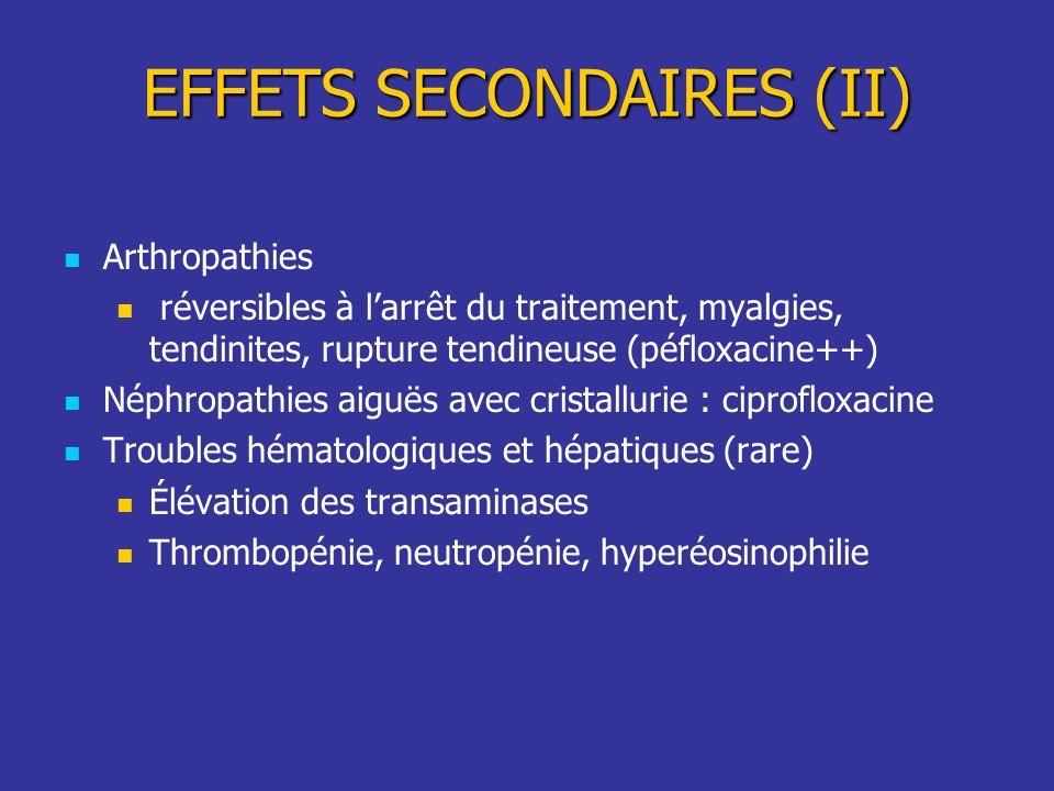 EFFETS SECONDAIRES (II)