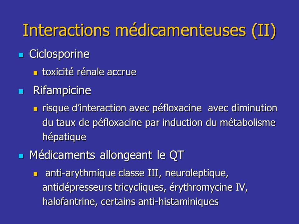 Interactions médicamenteuses (II)