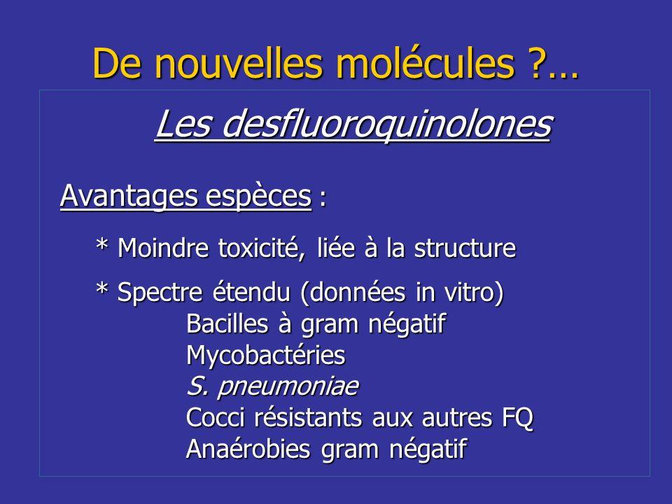 De nouvelles molécules …