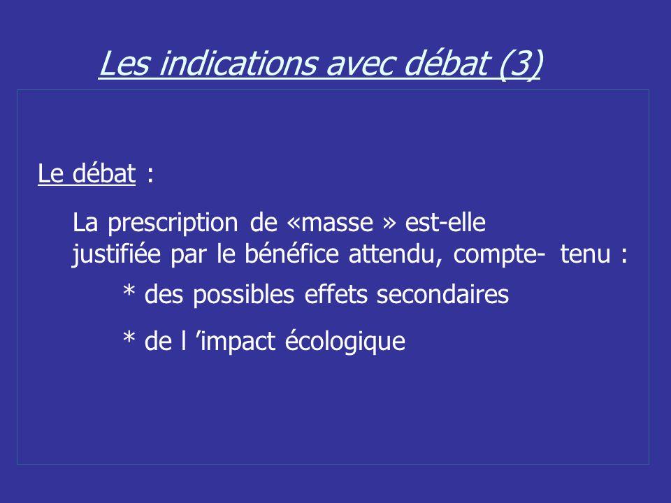 Les indications avec débat (3)