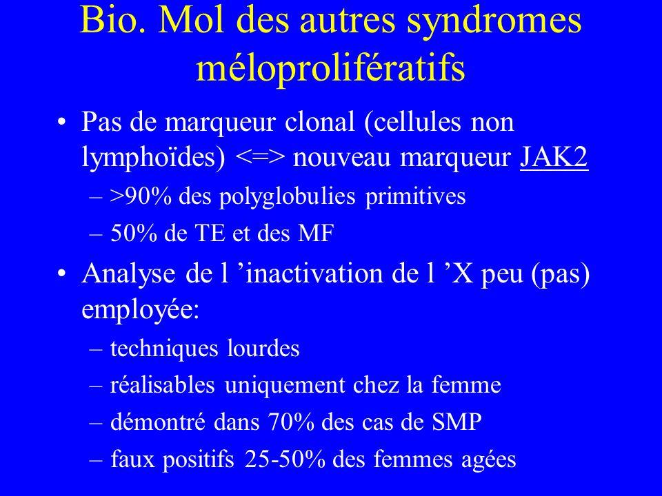 Bio. Mol des autres syndromes méloprolifératifs