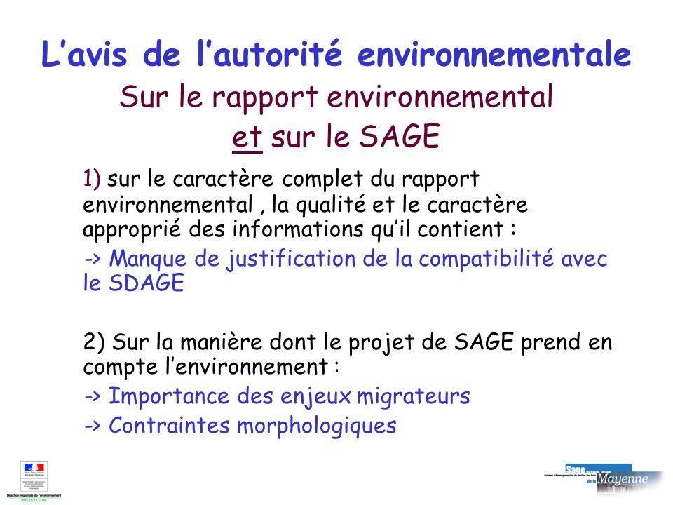 L'avis de l'autorité environnementale