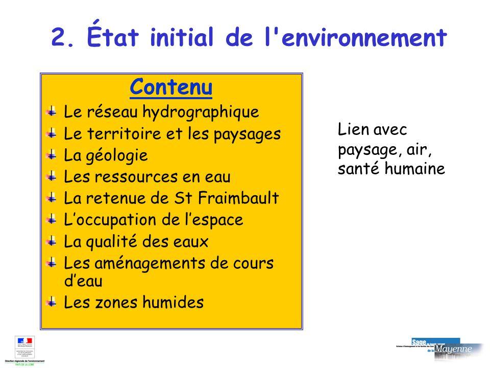 2. État initial de l environnement