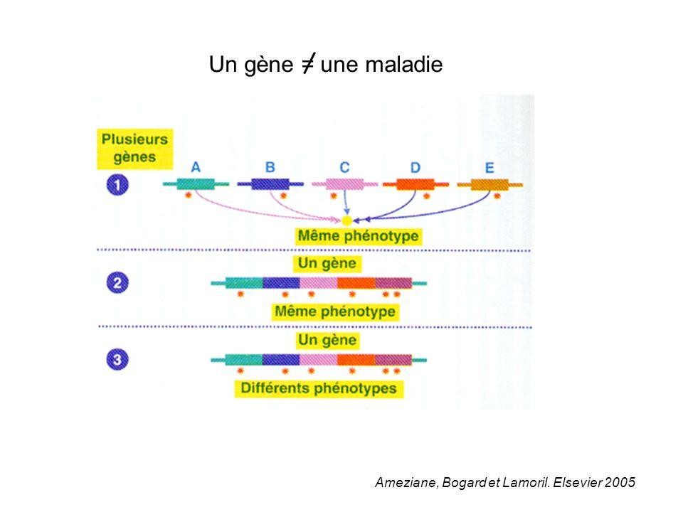 Un gène = une maladie Ameziane, Bogard et Lamoril. Elsevier 2005