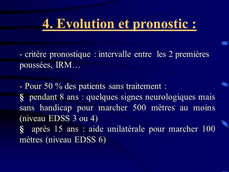 4. Evolution et pronostic :