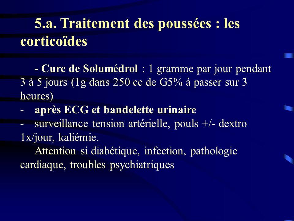 5.a. Traitement des poussées : les corticoïdes