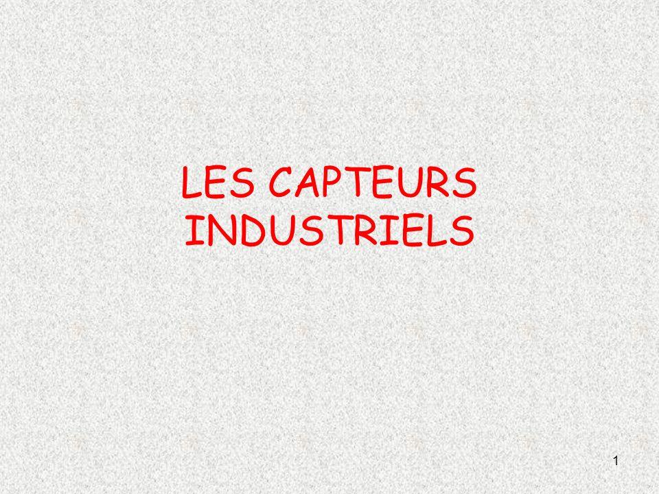 LES CAPTEURS INDUSTRIELS