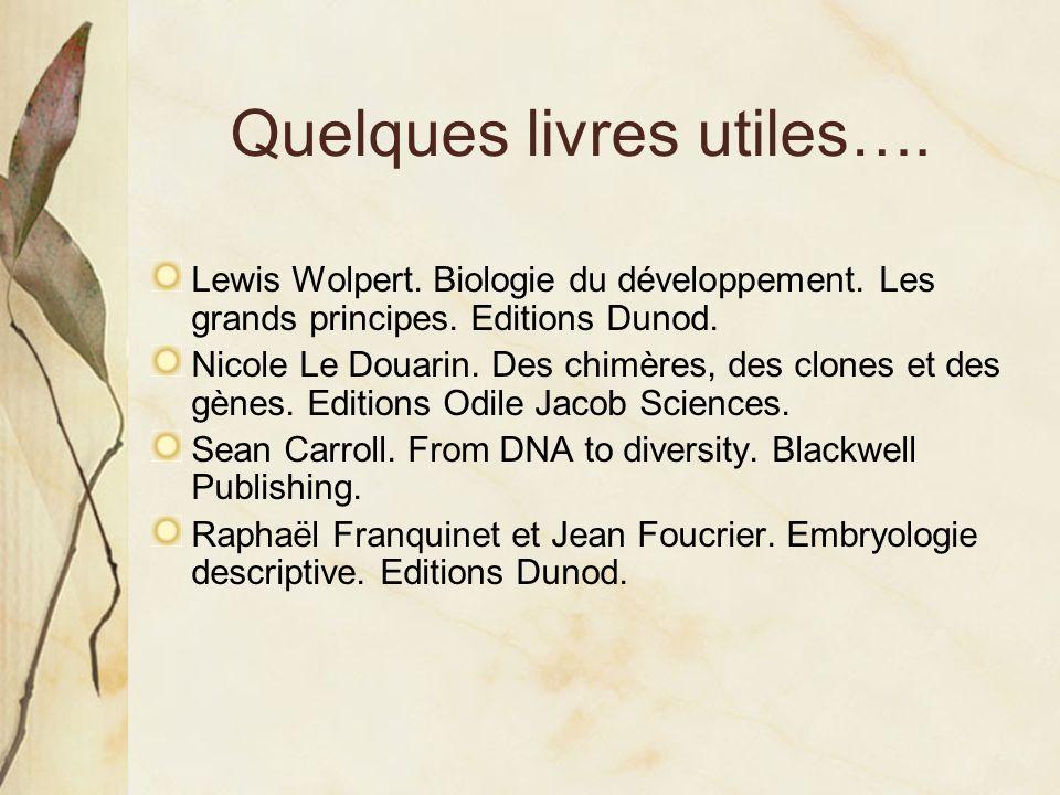 Quelques livres utiles….