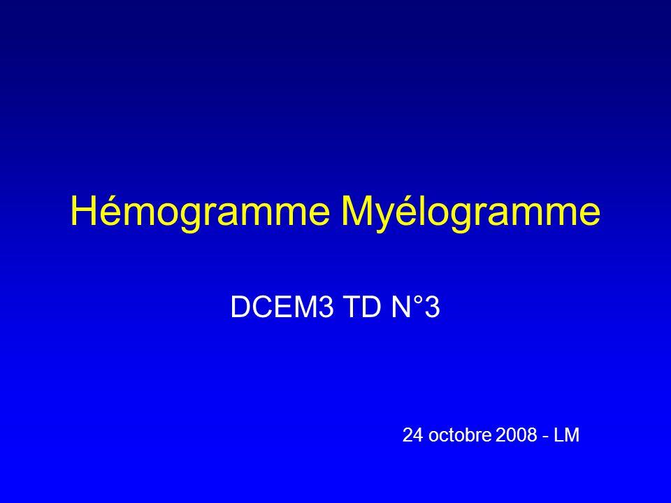 Hémogramme Myélogramme
