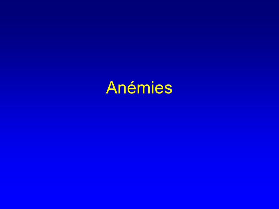 Anémies