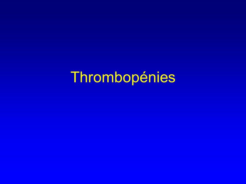 Thrombopénies