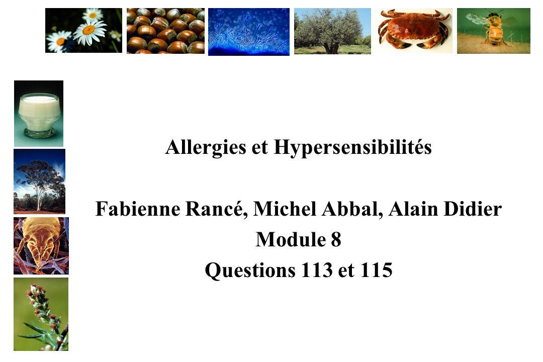 Allergies et Hypersensibilités