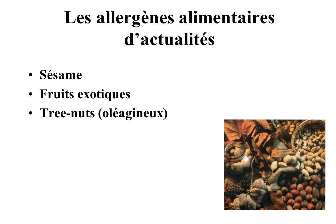Les allergènes alimentaires d'actualités