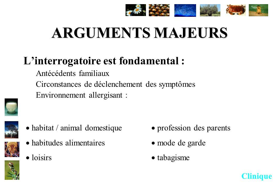 ARGUMENTS MAJEURS L'interrogatoire est fondamental :