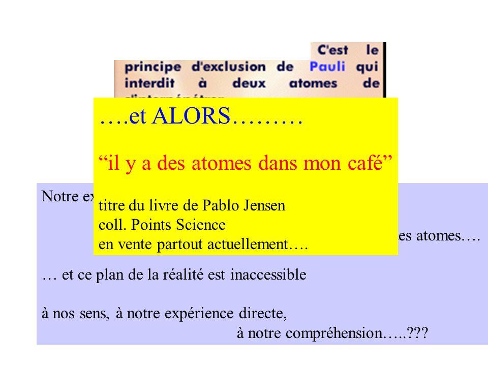 ….et ALORS……… ….et ALORS……... il y a des atomes dans mon café