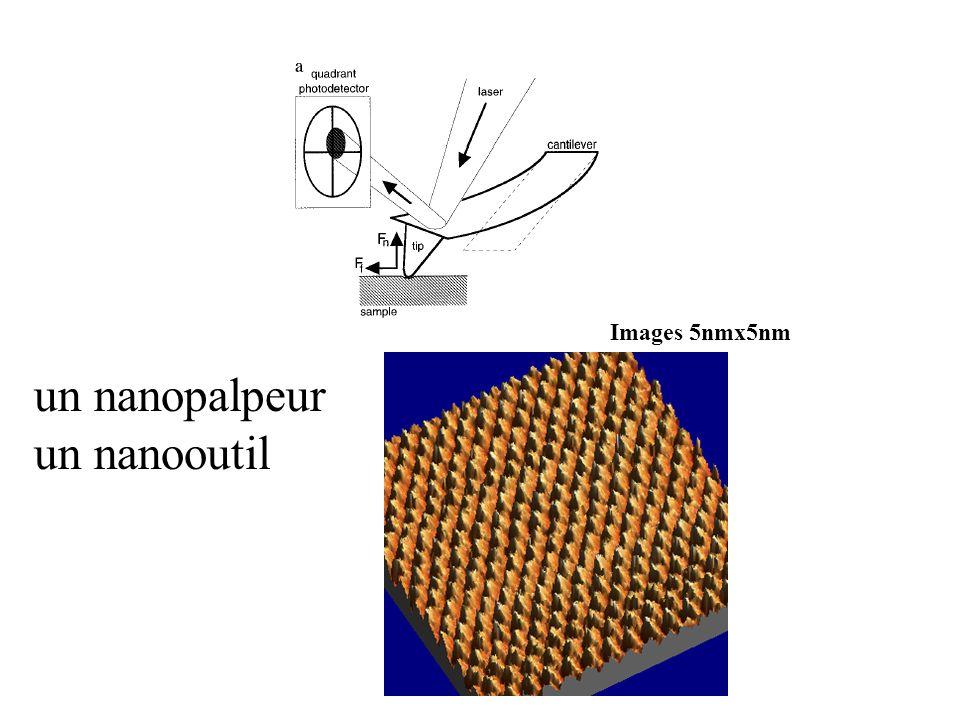 Images 5nmx5nm un nanopalpeur un nanooutil
