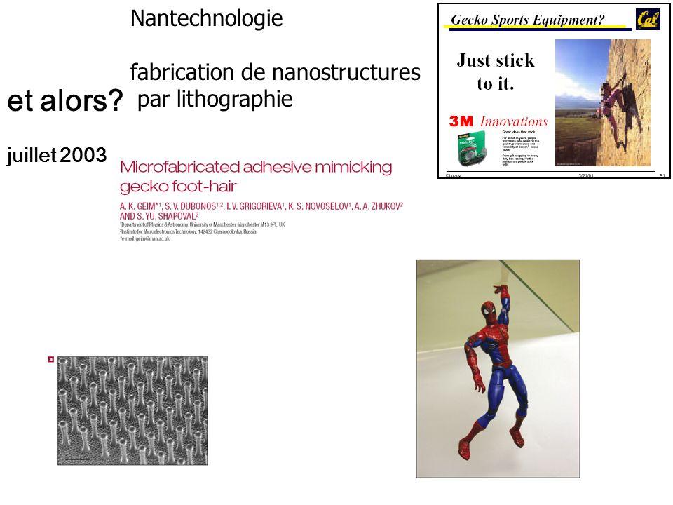 et alors Nantechnologie fabrication de nanostructures