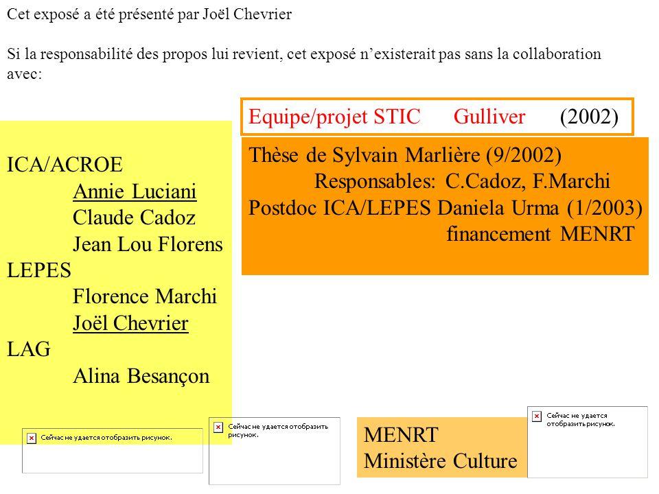 Equipe/projet STIC Gulliver (2002)