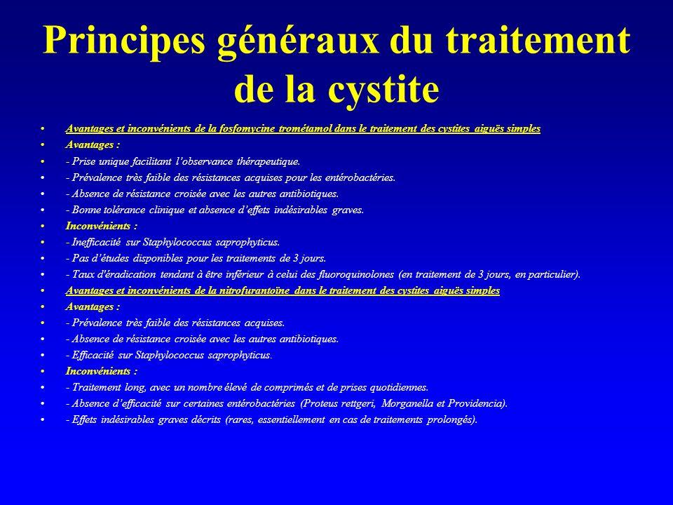 Principes généraux du traitement de la cystite