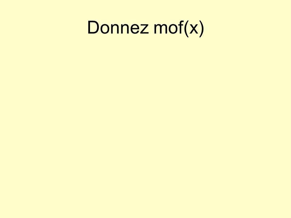 Donnez mof(x)