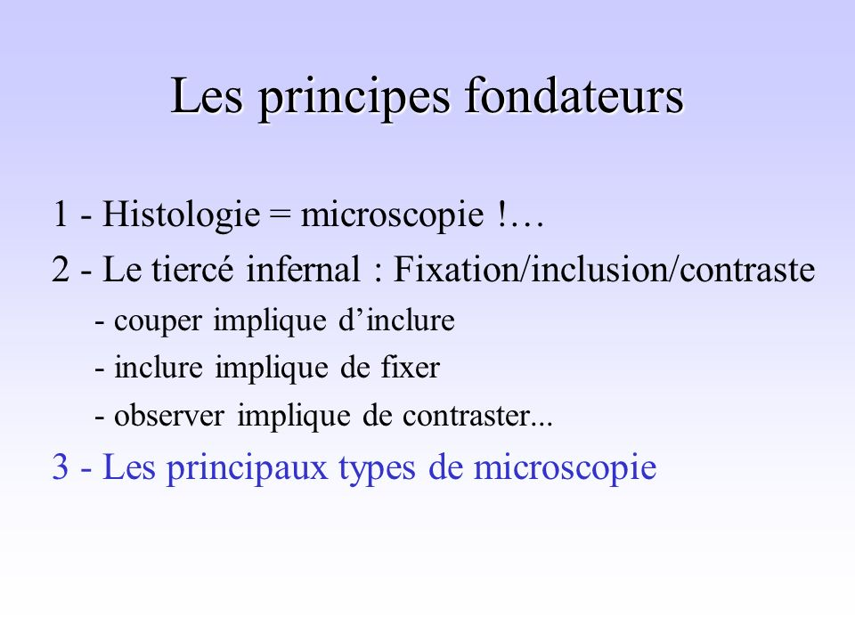 Les principes fondateurs