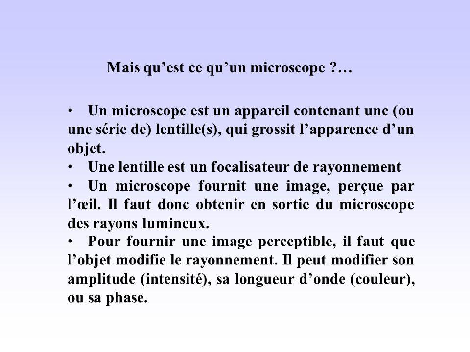 Mais qu'est ce qu'un microscope …