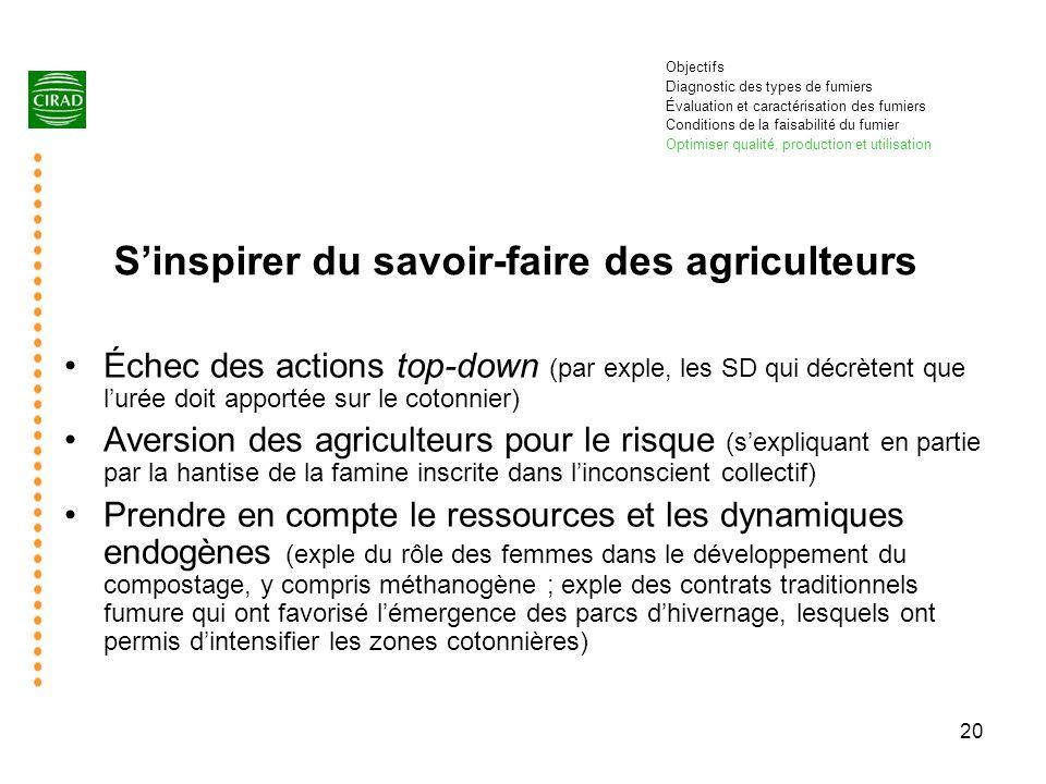 S'inspirer du savoir-faire des agriculteurs