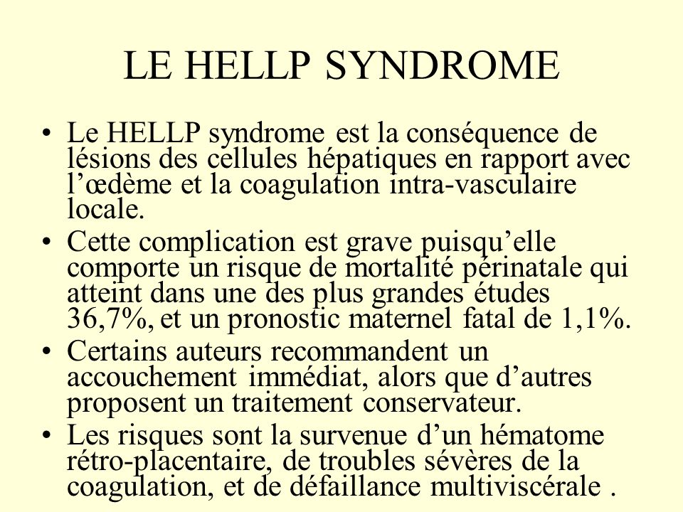LE HELLP SYNDROME