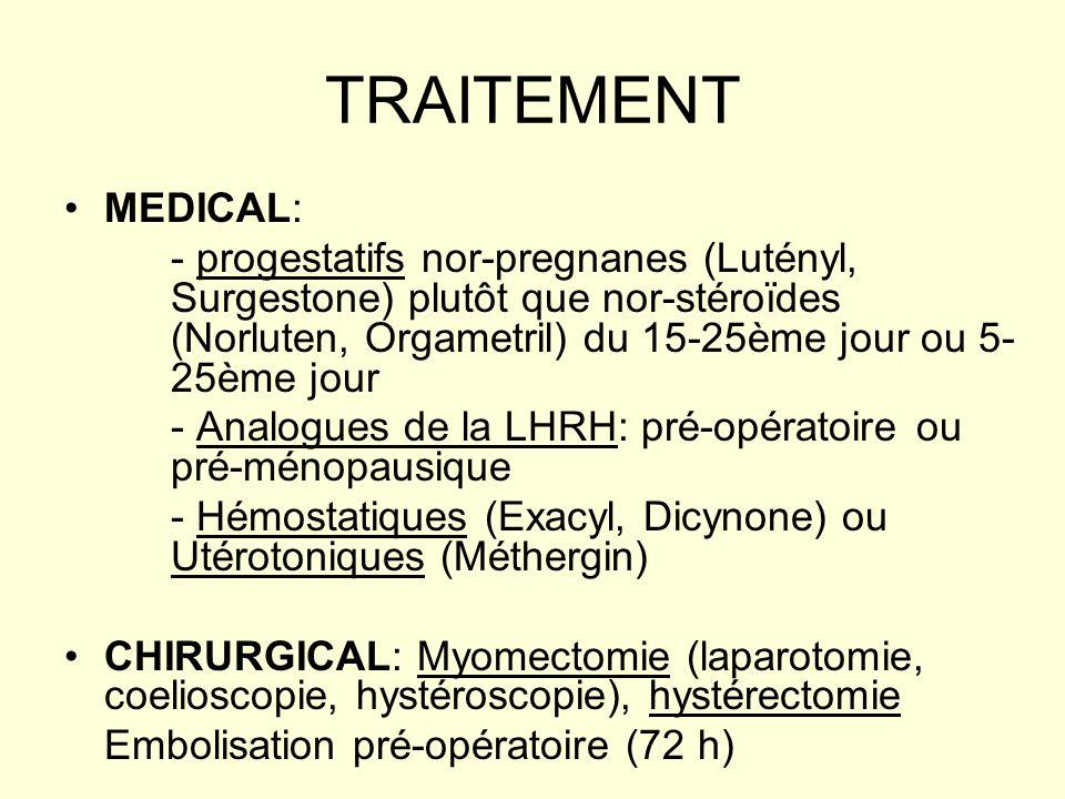 TRAITEMENT MEDICAL: