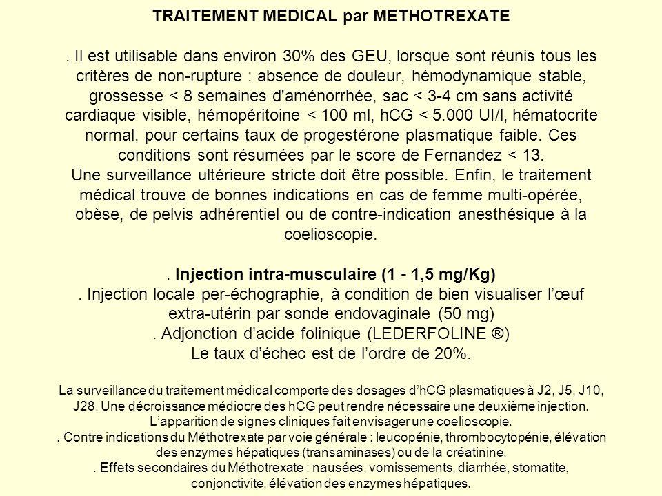 TRAITEMENT MEDICAL par METHOTREXATE