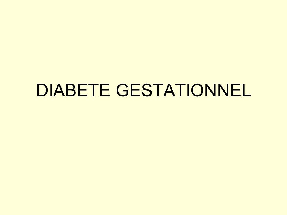 DIABETE GESTATIONNEL
