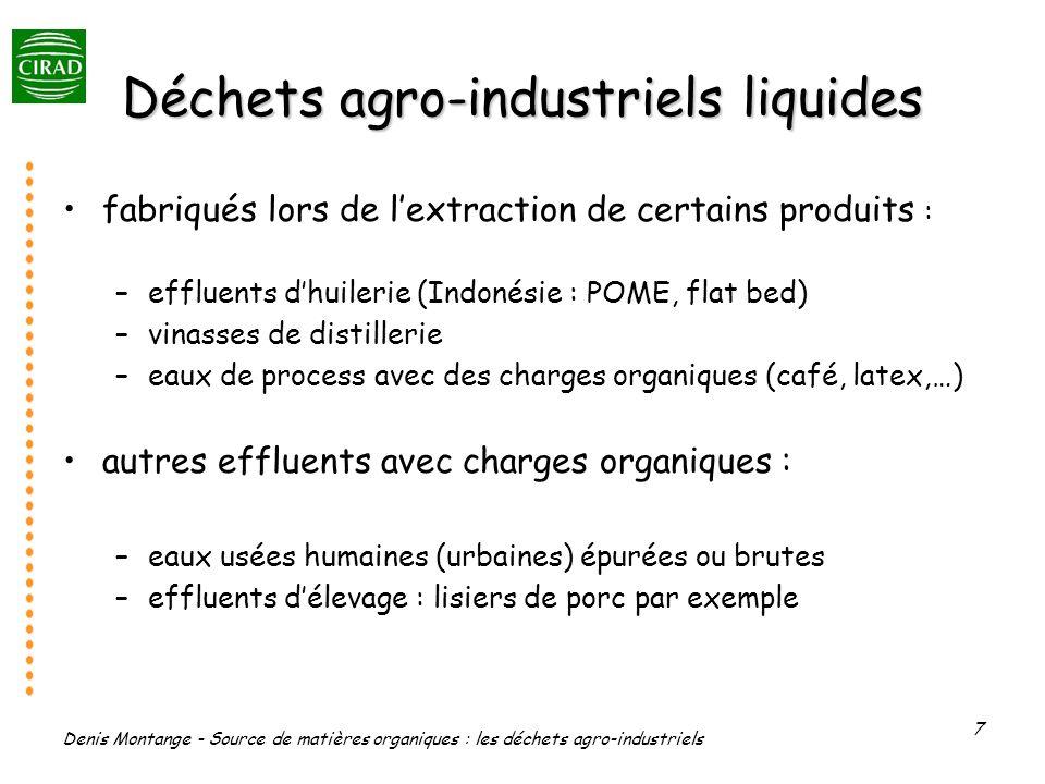 Déchets agro-industriels liquides