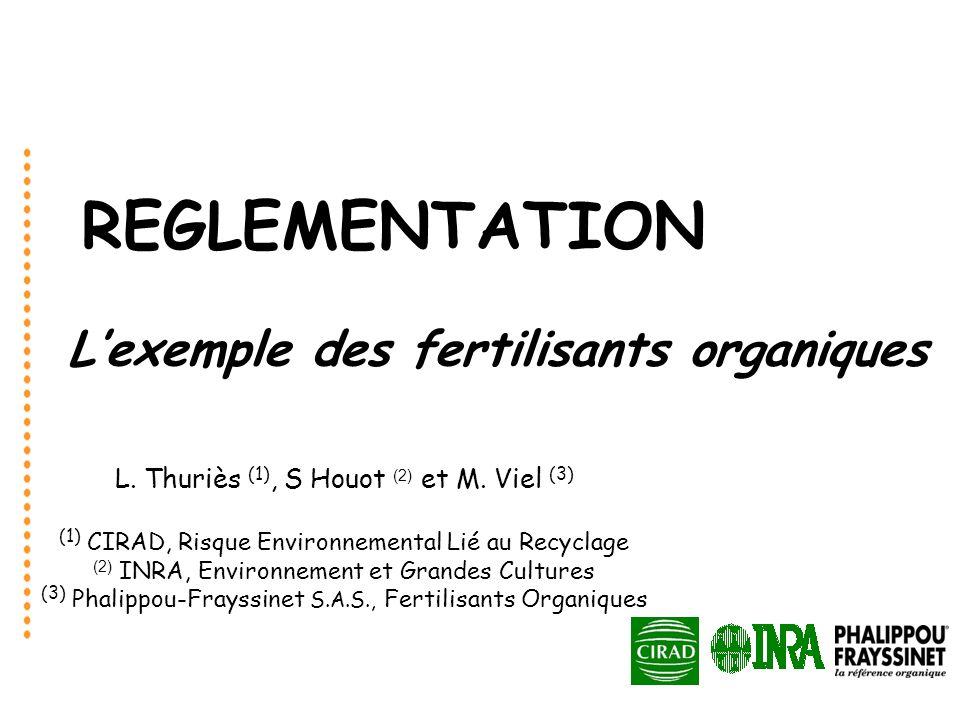 L'exemple des fertilisants organiques