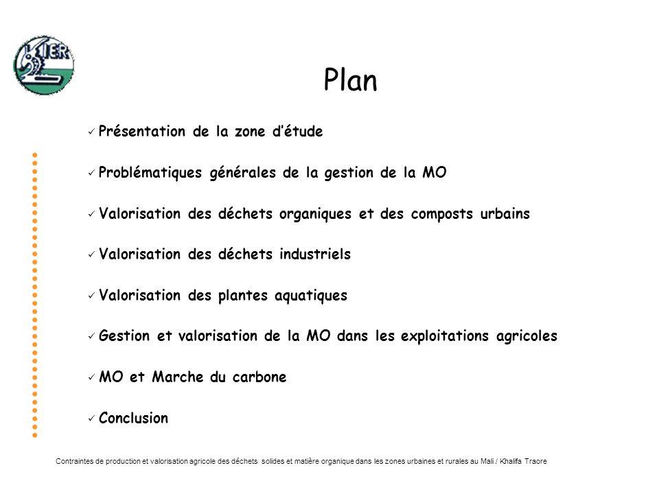 Plan Présentation de la zone d'étude