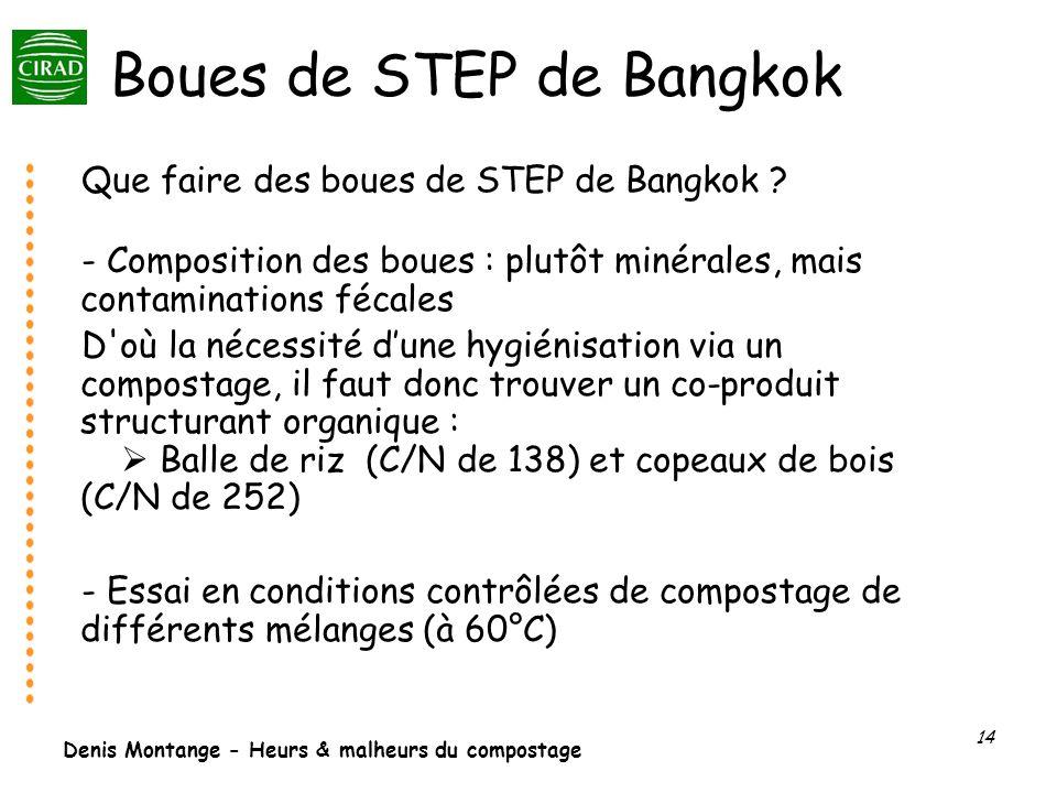 Boues de STEP de Bangkok