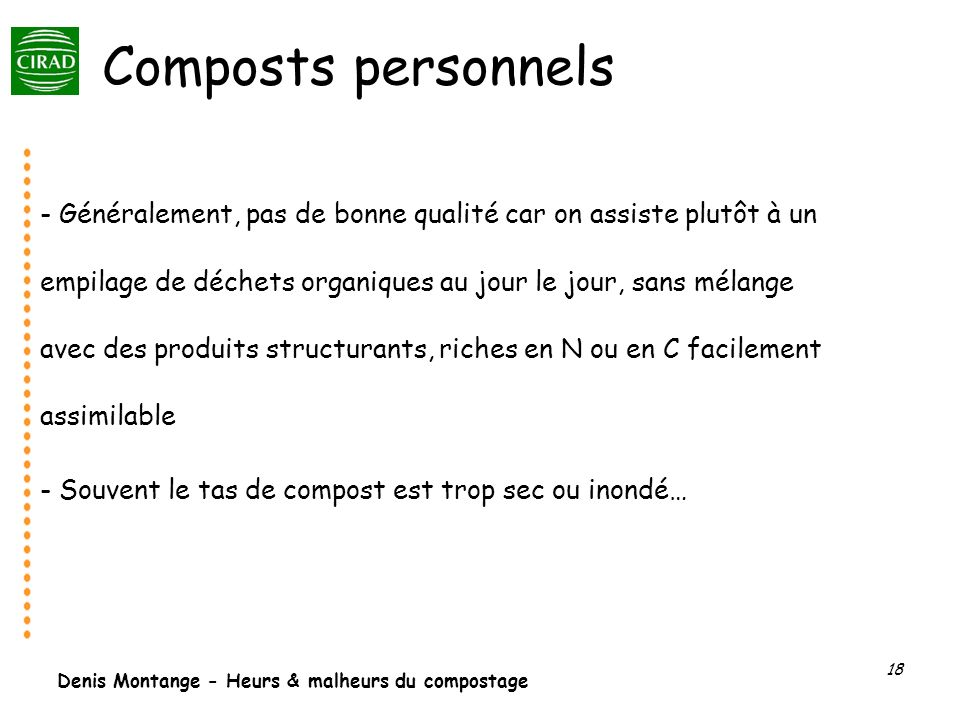 Composts personnels